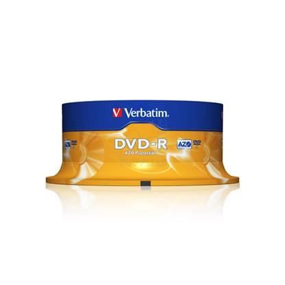 Verbatim DVD-R 120' 4.7GB 16x Cake Box x25 (43522)