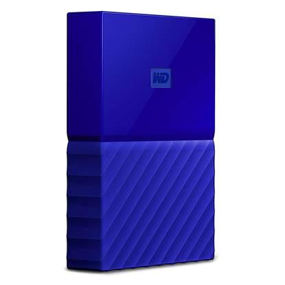 Western Digital My Passport 1TB External USB 3.0 Portable Hard Drive (Blue)  (WDBYNN0010BBL)