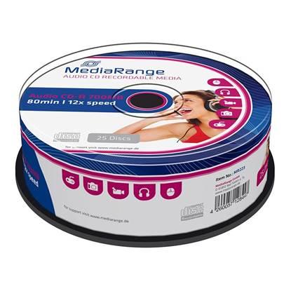 MediaRange Audio CD-R 80' 700MB 12x Cake Box x 25 (MR223)