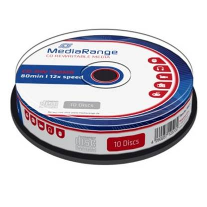 MediaRange CD-RW 80' 700MB 12x Cake Box x 10 (MR235)