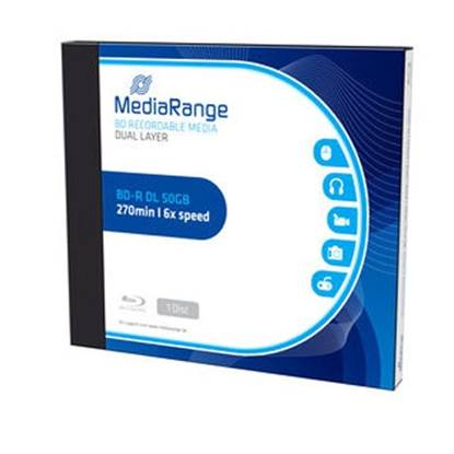 MediaRange BD-R Dual Layer 50GB 6x Single Jewelcase (MR506)
