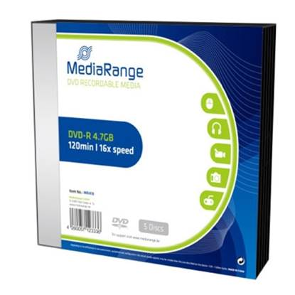 MediaRange DVD-R 120' 4.7GB 16x Slimcase Pack x 5 (MR418)