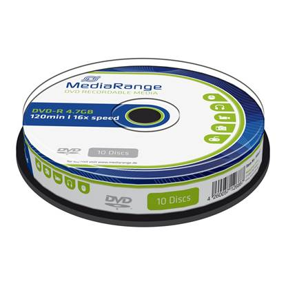 MediaRange DVD-R 120' 4.7GB 16x Cake Box x 10 (MR452)