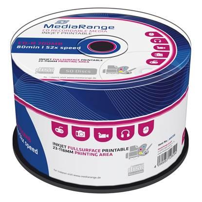 MediaRange CD-R 80' 700MB 52x Cake Box x 50 Inkjet fullsurface printable (MR208)