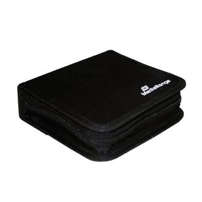 MediaRange Media Storage Wallet for 24 Discs Nylon Black