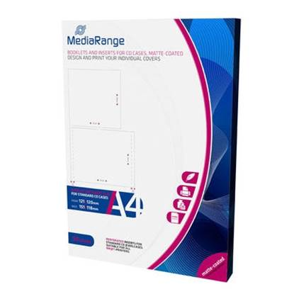 MediaRange Booklets and Inserts for CD Jewelcases Matte (50 Pack)