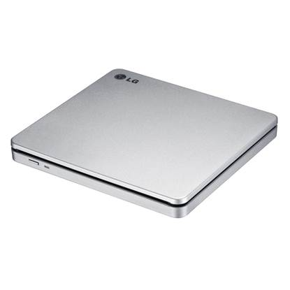 LG External DVD-RW Recorder Slim Slot-in Silver (GP70NS50)