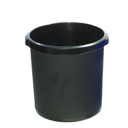 Καλάθι Αχρήστων Πλαστικό 18LT Μαύρο