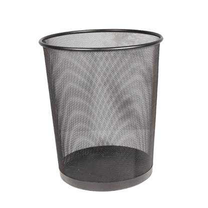 Καλάθι Αχρήστων Μεταλλικό με Πλέγμα 20LT Μαύρο