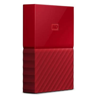 Western Digital My Passport 1TB External USB 3.0 Portable Hard Drive (Red)  (WDBYNN0010BRD)