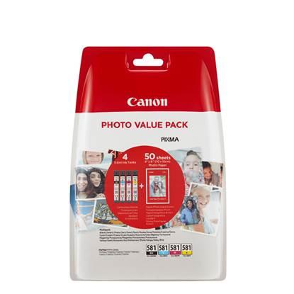 Canon Μελάνι Inkjet CLI-581VP BK/C/M/Y + PHOTO PAPER (2106C005)
