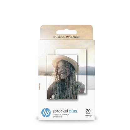 Αφαιρούμενο Αυτοκόλλητο Φωτογραφικό Χαρτί HEWLETT PACKARD Sprocket Plus (20 Φύλλα) 5.8x8.7 cm. (2LY72A)