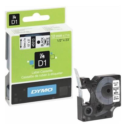 Ταινία Ετικετογράφου DYMO D1 45013 12mmx7m Black on White