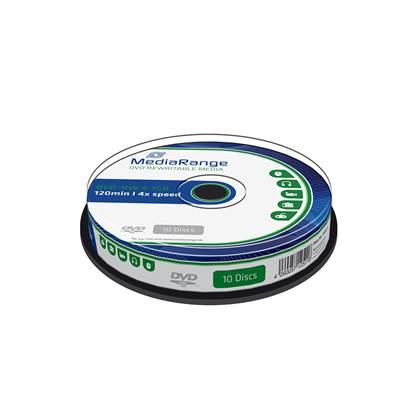 MediaRange DVD-RW 120' 4.7GB 4x Rewritable Slimcase Cake Box x 10 (MR450)
