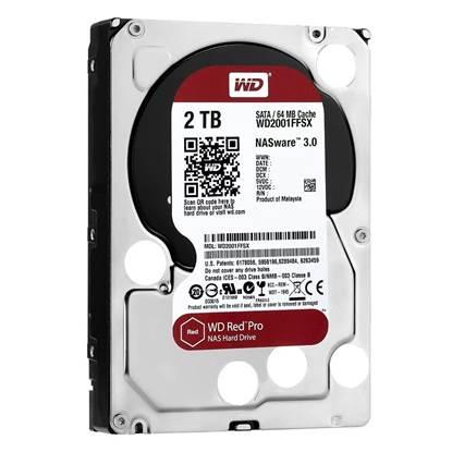 Western Digital Εσωτερικός Σκληρός Δίσκος 2 TB RED PRO NAS (WD2002FFSX)
