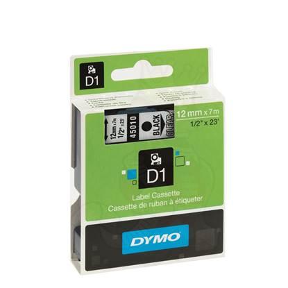 Ταινία Ετικετογράφου DYMO D1 45010 12 mm x 7 m (Μαύρα Γράμματα σε Διάφανο Φόντο)