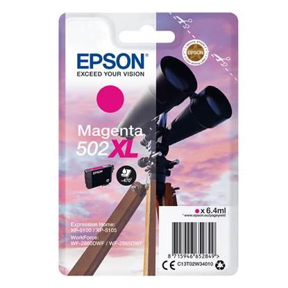 Epson Μελάνι Inkjet 502XL Magenta (C13T02W34010) (EPST02W340)