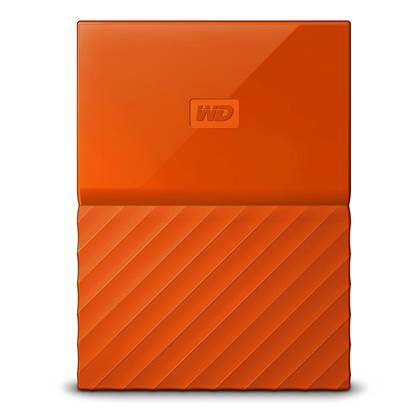 Western Digital My Passport 1TB External USB 3.0 Portable Hard Drive (Orange)  (WDBYNN0010BOR)