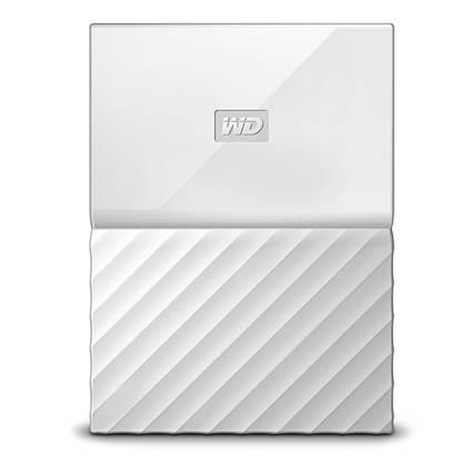 Western Digital My Passport 2TB External USB 3.0 Portable Hard Drive (White)  (WDBS4B0020BWT)