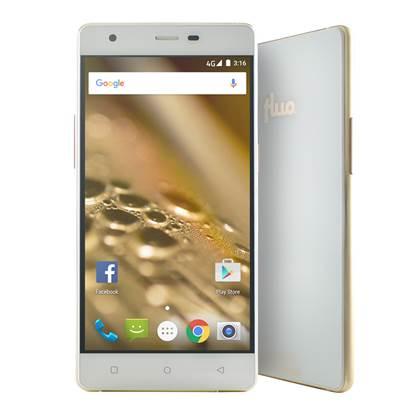 "Fluo X - Smartphone 5"" - 4G - White/Gold (FLS504020-WG)"