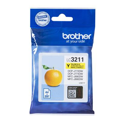 Brother Μελάνι Inkjet LC-3211Y Yellow (LC-3211Y) (BRO-LC-3211Y)