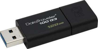 Kingston Data Traveler 100 G3 128GB USB 3.0 Flash Drive (Black) (DT100G3/128GB) (KINDT100G3/128GB)