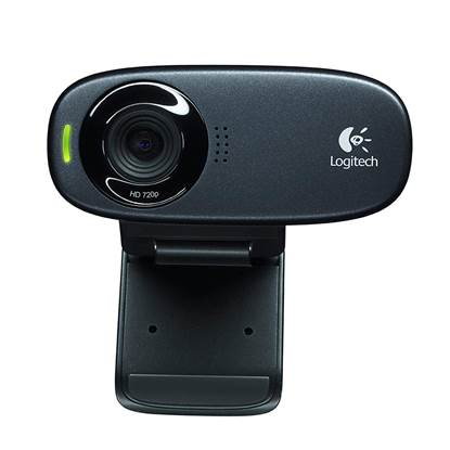 Logitech C310 Webcam (Black, HD, 720p)
