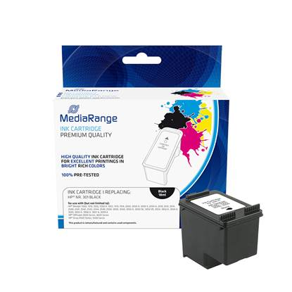 Inkjet MEDIARANGE Συμβατό για Εκτυπωτές HP (Black) (No.301XL) (CH563EE) (MRHP301BK)
