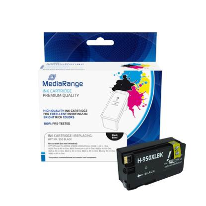 Inkjet MEDIARANGE Συμβατό για Εκτυπωτές HP (Black) (No.950XL) (CN045AE) (MRHP950BK)