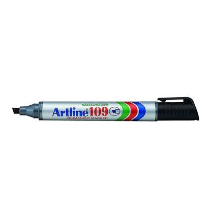 Μαρκαδόρος Ανεξίτηλος ARTLINE 109 Πλακέ Μύτη 2-5 mm (Μαύρο) (ART10925BK)