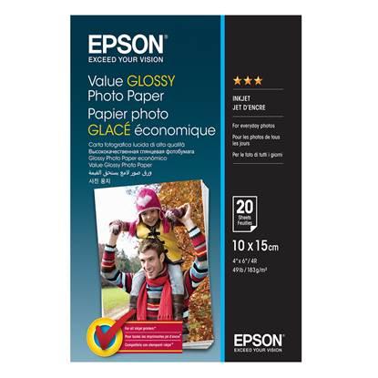 Φωτογραφικό Χαρτί EPSON Value Glossy A4 183 g/m²  20 Φύλλα (C13S400037) (EPSS400037)