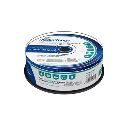 MediaRange DVD+R Double Layer 240' 8.5GB 8x Inkjet Fullsurface Printable Cake Box x 25 (MR474)