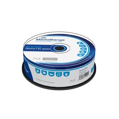 MediaRange BD-R 25GB 6x Cake Box x 25 (MR514)