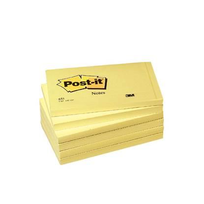 Αυτοκόλλητα Χαρτάκια 3M Tartan Κίτρινα 76x102 mm. (MMM76102)