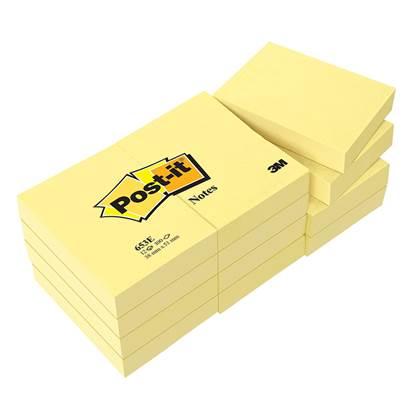 Αυτοκόλλητα Χαρτάκια 3M Tartan Κίτρινα 38χ51 mm. 12 Τεμάχια (MMM385112)