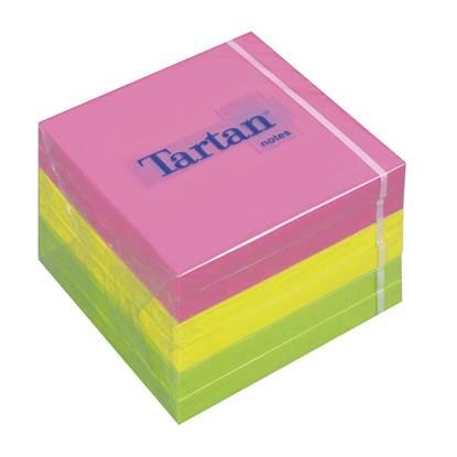 Αυτοκόλλητα Χαρτάκια 3M Tartan Neon Φωσφοριζέ 76x76mm. 400 Φύλλα (MMM767678)