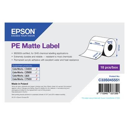 Ετικέτες EPSON PE Matte Label - Die-cut Roll 76mm x 127m (C33S045551) (EPSS045551)