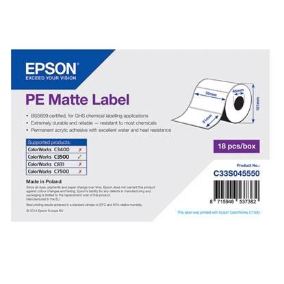 Ετικέτες EPSON PE Matte Label - Die-cut Roll 76mm x 51m (C33S045550) (EPSS045550)
