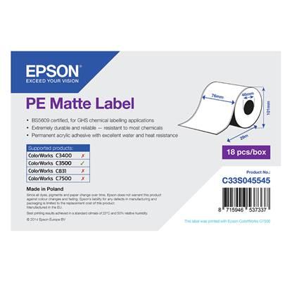 Ετικέτες EPSON PE Matte Label - Continuous Roll 76mm x 29m (C33S045545) (EPSS045545)