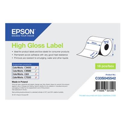 Ετικέτες EPSON High Gloss Label - Die-cut Roll 76mm x 51m (C33S045542) (EPSS045542)