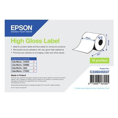 Ετικέτες EPSON High Gloss Label - Continuous Roll 76mm x 33m (C33S045537) (EPSS045537)