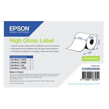 Ετικέτες EPSON High Gloss Label - Continuous Roll 51mm x 33m (C33S045536) (EPSS045536)