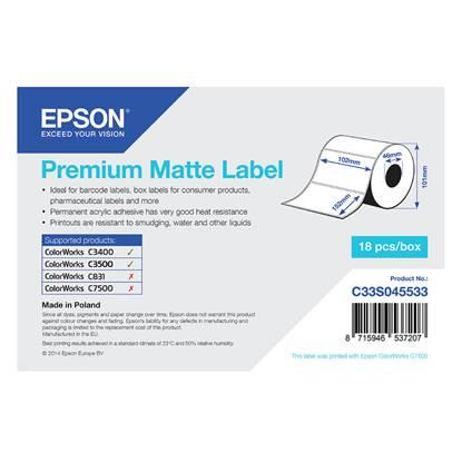 Ετικέτες EPSON Premium Matte Label - Die-cut Roll 102mm x 152m (C33S045533) (EPSS045533)