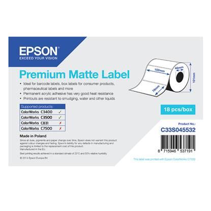 Ετικέτες EPSON Premium Matte Label - Die-cut Roll 102mm x 76m (C33S045532) (EPSS045532)