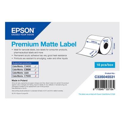 Ετικέτες EPSON Premium Matte Label - Die-cut Roll 102mm x 51m (C33S045531) (EPSS045531)
