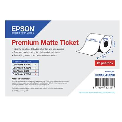 Ετικέτες EPSON Premium Matte Ticket - Roll 102mm x 50m (C33S045390) (EPSS045390)