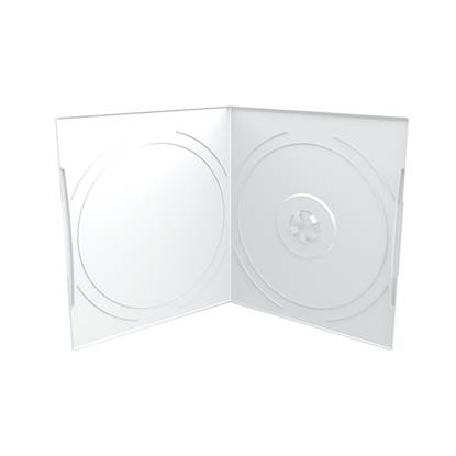 MediaRange DVD Case for 1 disc, 7mm, pocket sized, Frosted/Transparent (MRBOX10-T)