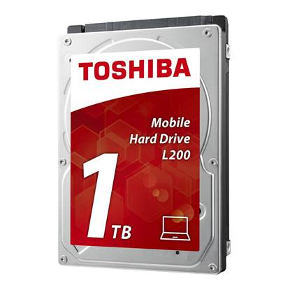 Toshiba 1TB L200 - Mobile HDD SATA 3Gb/s 5400RPM 2.5''