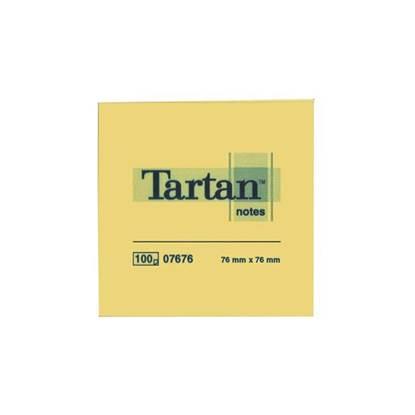 Αυτοκόλλητα Χαρτάκια 3M Tartan Κίτρινα Κύβος 400 φύλλων 76x76mm. (MMM7676400)