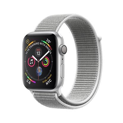 Apple Watch Series 4 GPS 44mm Silver Aluminium Case with Sport Loop - Seashell EU